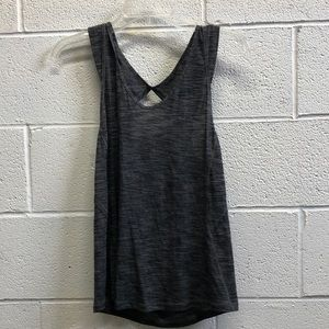 Lululemon heathered black tank, sz 8, 63551